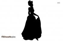 Cartoon Princess Jasmine Silhouette Illustration