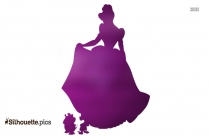 Cinderella Cartoon Silhouette Image