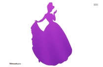 Cinderella Silhouette Illustration Art