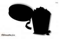 Cinema Popcorn Silhouette