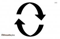 Circle Arrow Silhouette Image