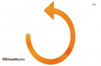 Circular Left Arrow Silhouette