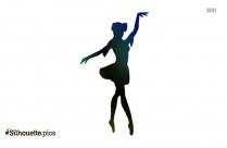 Cute Ballerina Girl Dancer Silhouette