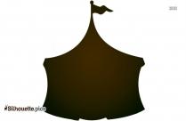 Circus Camp Vector Silhouette