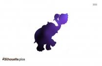 Circus Elephant Cartoon Animal Silhouette