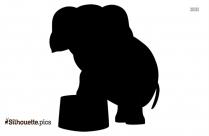 Cartoon Circus Elephant Silhouette
