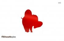 Circus Elephant Dancing Silhouette