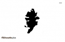 Black And White Male Elephant Silhouette