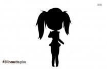 Girl Running Emoji Silhouette