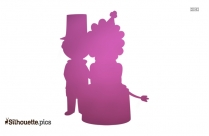 Circus Ringmaster With Lion Silhouette Clipart