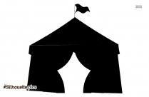 Circus Tent Silhouette, Vector Art
