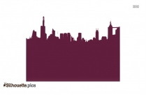 City Building Vector Silhouette