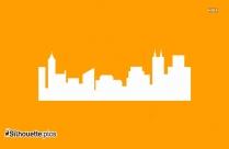 City Skyline Vector Silhouette Image