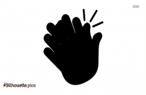 Black And White Clapping Hands Silhouette