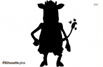 Clarabelle Cow Vector Silhouette Art
