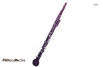 Oboe Silhouette Image, Vector Art