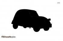 Cartoon Car Racing Silhouette