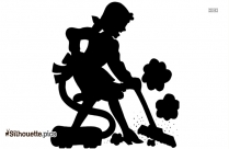 Cleaning Silhouette Image And Vector