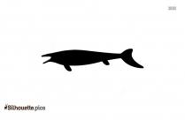 Clidastes Fish Silhouette Free Vector Art
