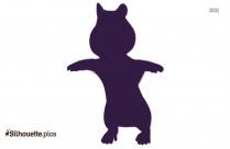 Clip Art Chipmunk Silhouette