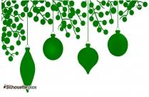 Clipart Christmas Decoration Color Silhouette