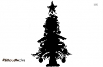 Spruce Tree Silhouette, Black Spruce Clip Art Background