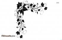 Floral Decoration Clipart Silhouette