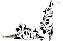Floral Border Designs Silhouette