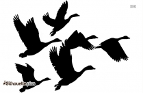 Clipart Goose Flying Silhouette