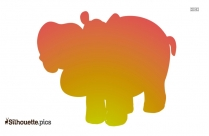 Clipart Hippo Colorful