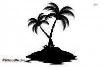 Cartoon Tree Silhouette Image