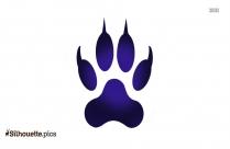 Clipart Lion Footprint Silhouette