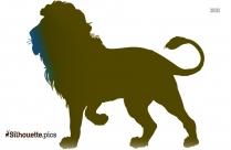 Lion Coloring Free Clip Art Silhouette