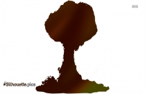 Clipart Mushroom Cloud Boom Silhouette