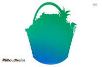 Clipart Of Fruit Basket Silhouette