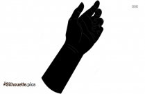 Nails Silhouette, Hand Gesture Vector Image