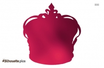 Clipart Of Prince Crown Vector Silhouette