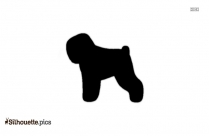 Clipart Of Russian Terrier Silhouette Image