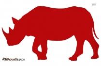 Vector Image Of Rhinoceros Silhouette
