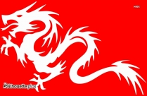 Clipart Tribal Dragon Image Silhouette