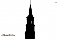 Clock Tower Clipart Silhouette