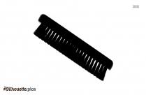 Cloth Brush Silhouette Clip Art