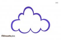 Cloud Clip Art Vector Silhouette