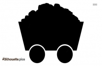 Coal Car Silhouette Clipart