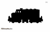 Coal Train Engine Silhouette
