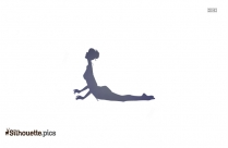 Yoga Palms Together Silhouette Vector And Graphics