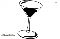 Cocktail Glass Silhouette Clip Art
