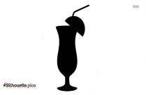 Cocktail Drink Silhouette Drawing
