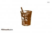 Martini Glass Logo Silhouette For Download