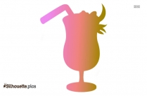 Cocktail Drink Silhouette Free Vector Art